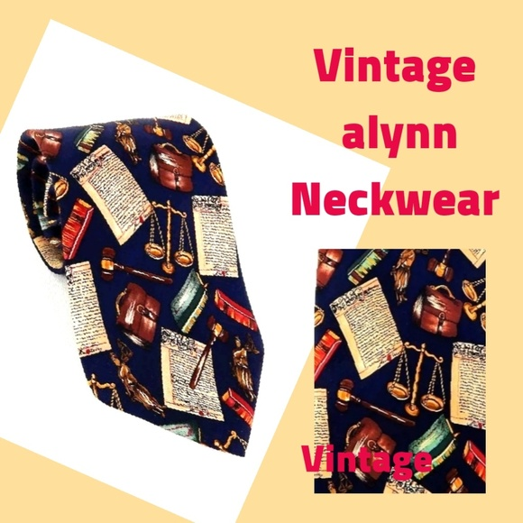 Alynn Neckwear Other - VINTAGE ALYNN SILK  LAWYER JUDGE SILK NECKTIE